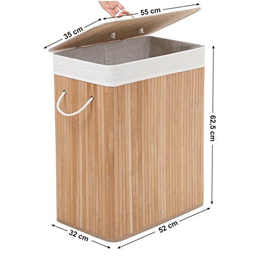 Wäschekorb aus Bambus, 100 Liter - 8