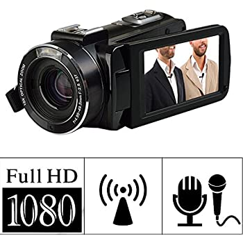 Camcorder Video Camera FHD 1080p 24.0MP WIFI Remote Control Digital Camera External mini Microphone 3.0 inch Screen with Android IOS APP Integration