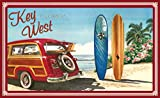 Northwest Art Mall ed-5741 Bgr Key West Florida Woodie Auto & Surfbretter, Print von Künstler Evelyn Jenkins Drew, 27,9 x 43,2 cm