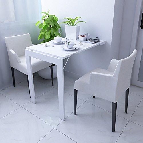 Tableau Pliable fixé au Mur de Table de Baisse-Feuille Table de Salle à Manger Convertible Table 90 * 60cm (Couleur : Blanc)