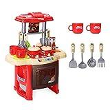 Wokee Style 24PC Kinder Küche Kochen Rollen Rollenspiel Spielzeug Herd Set Licht Sound Gesche