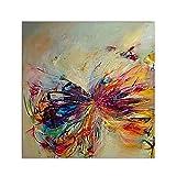 XIAOXINYUAN 100% Handgemalt Öl Malerei Moderne Kunst Abstrakte Tier Schmetterling Wand Bild Für Zimmer Home Decor 40 × 40 cm