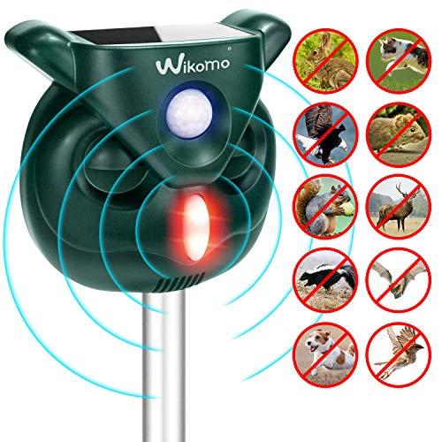 on 2019 Solar Katzenschreck Doppelter Ultraschall abwehr mit Batteriebetrieben und Blitz Empfindlichkeit Wetterfest Hundeschreck Tiervertreiber ()