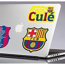 FC Barcelona Stickers, Vinilo, Multicolor, 30.00x30.00x32.00 cm, 3 Unidades