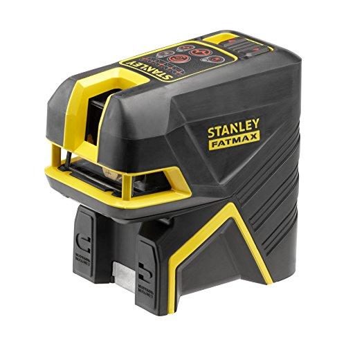 STANLEY FMHT1-77414 - Nivel laser de cruz + 2 puntos – Rojo. 20 metros (50 metros con detector) ±3mm/m