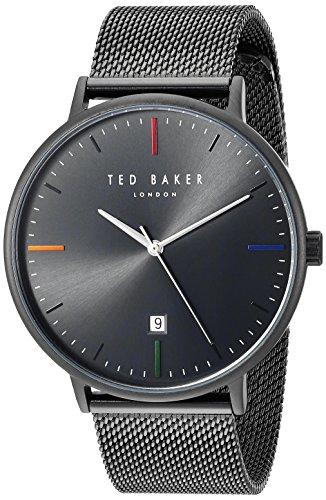 Ted Baker London Herren Quarz Analog Uhr mit Edelstahl Armband TE50311002