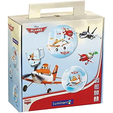 Luminarc 9210804 - Set de vajilla infantil, 3 piezas, diseño Disney Planes