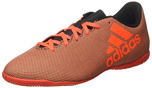 adidas X 17.4 In, Chaussures de Football Homme Multicolore (Core Black/solar Red/solar Orange)