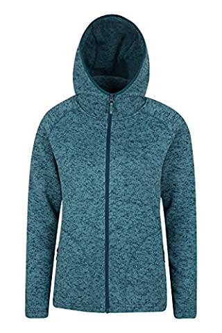 Mountain Warehouse Nevis Women's Full Zip Hoodie - Compact & Lightweight, Easy to Layer - Ideal for Covering Up On Windy, Sunny Days When Out Walking Teal