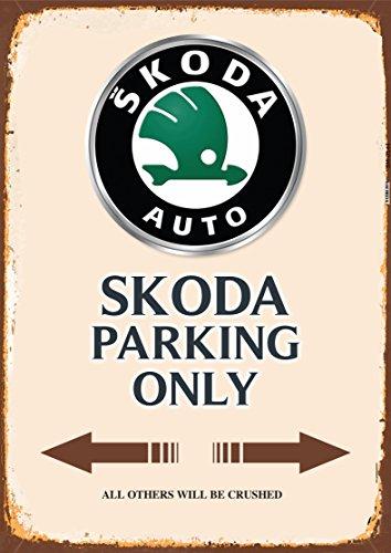 ComCard Skoda Parking only blechschild