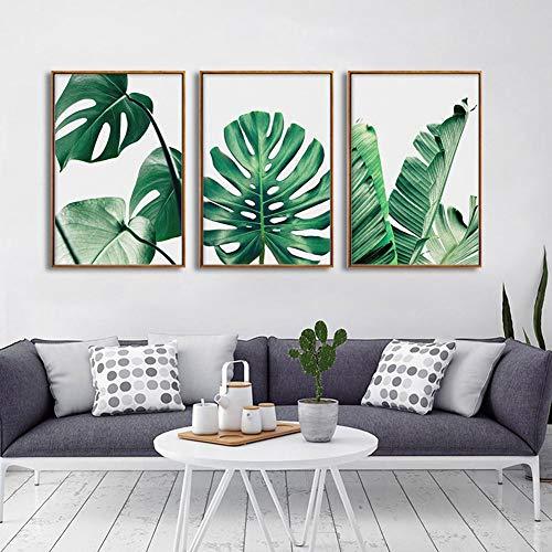 Imprimir Monstera Hojas Arte Pintura Verde Planta