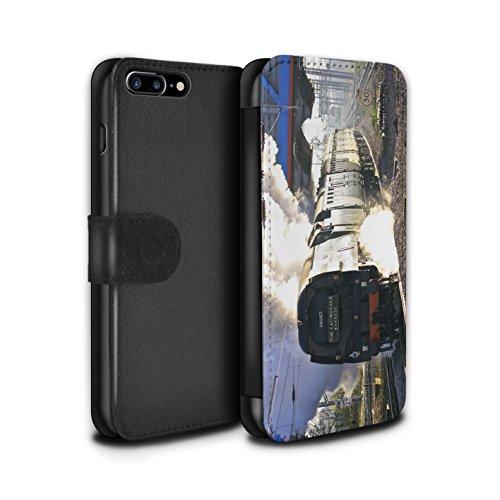 Stuff4 Coque/Etui/Housse Cuir PU Case/Cover pour Apple iPhone 7 Plus / Scotsman/Vert Design / Locomotive Vapeur Collection Tangmere