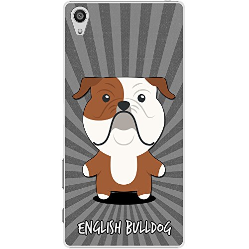 Englische Bulldogge, Britische Bulldogge Hartschalenhülle Telefonhülle zum Aufstecken für Sony Xperia Z5 (Valentine Englische Bulldogge)
