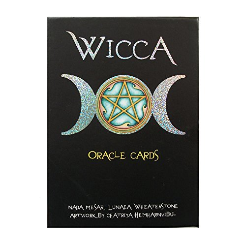 Wicca Oracle par Lunaea Wheaterstone, 32 Cartes et Instruction Multilingue dans Boîte de Rangement