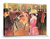 1art1® Henri De Toulouse-Lautrec - Dance In The Moulin Rouge, 1890 Cuadro, Lienzo Montado sobre Bastidor (120 x 80cm)
