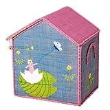 Rice Aufbewahrungskorb für Spielzeug Raffiabast hellblau