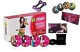 Zumba Incredible Slimdown Set+ Exhilarate Body-Shaping-System insg. 8 Dvds in Deutscher Sprache/Menüführung + Toning Sticks 2.5 + Stülper + Ernährungsplan