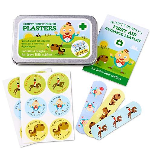 Yellodoor 42 kinderputze-Band-Aids, Humpty Dumpty Design-wasserdicht, Hypoallergen und Latexfrei Enthält eine Dose Lagerung