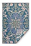 Unbekannt Fab Hab Reversible, Indoor/Outdoor Weatherproof Floor Mat/Carpet - Samarkand - blau (120 cm x 180 cm)