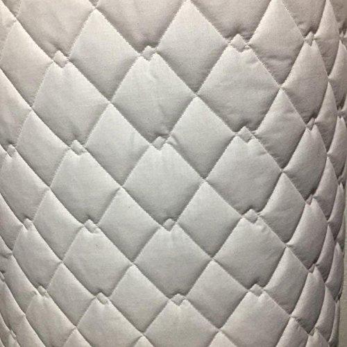 Gesteppt Stoff Polycotton schwarz und weiß doppelt Diamant Jacken Satteldecke Pets. Verkauft Meterware weiß (Diamant-gesteppte Jacke)