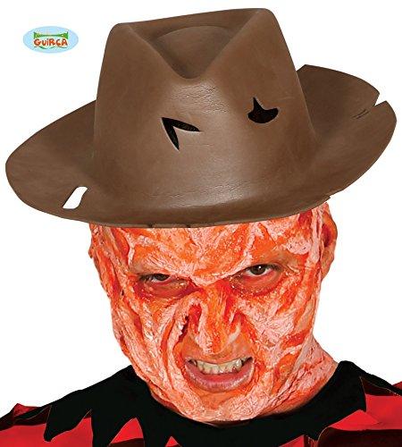 Guirca Brauner Serienmörder Hut Halloween Erwachsene Blutig Löcher -