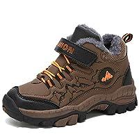 Beichuang Kids Climbing Boot Hiking Shoes Waterproof Platform Anti-Slip Snow Boots Brown 11 UK Child