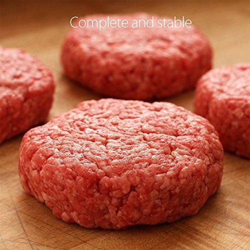 Silikon Burgerpresse set snaideal Hamburger BBQ Patty Maker Rund Burger Presse 5 in 1 Baby bereit Cookie Gefrier-Behälter - 6