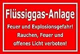 Melis Folienwerkstatt Aufkleber – Flüssiggas-Anlage - 30x20cm – S00054-D - 20 Varianten
