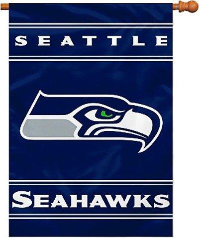 elseitiges Hausbanner, 71 x 102 cm, Herren,Unisex-Erwachsene, Damen, FBA_94810B, Seattle Seahawks, 28