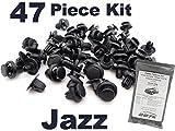 47 Pièces - Garniture En Plastique Assortiment Clip Kit de Montage - Honda Jazz (2008 - 2014) Pare-chocs, passage de roue