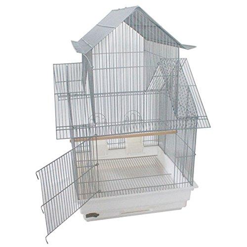 Montana Cages Vogelkäfig, Sittichkäfig, Käfig für Finken, Kanarien und SitticheAdria - Platinum