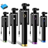 #7: Selfie Stick Portable Black + OTG Adaptor Compatible for all Android Phones by MYSTIQUE MALL