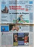 NOUVELLE REPUBLIQUE (LA) [No 16050] du 05/08/1997 - MOISSONS EN LOIR-ET-CHER - UN BILAN PLUTOT MEILLEUR QUE L'AN DERNIER - L'HUMANITE A PERDU SA DOYENNE AGEE DE 122 ANS - JEANNE CALMANT - LES LECONS D'UNE VIE PAR GERBAUD - ATHLETISME - STEPHANE DIAGANA - ACTIVITE TOURISTIQUE EN SOLOGNE - LA CHOCOLATERIE POULAIN DE BLOIS - A NOUAN-LE-FUZELIER LE TOURISTE EST ROI