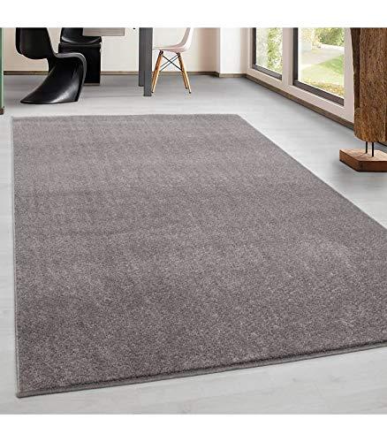 Teppich Kurzflor Modern Wohnzimmer Einfarbig Meliert Uni günstig Versch. Farben - Beige, 160x230 cm -