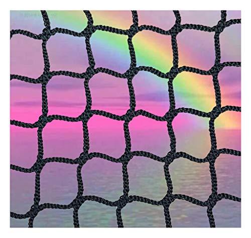 Safety Net Net Golf Seil Kinder Balkon Schwarz Volleyball Schutznetze Treppe Außen Nylon Badminton Sicherheitshandball Cat Fußball Black Mesh (Size : 2x6m)