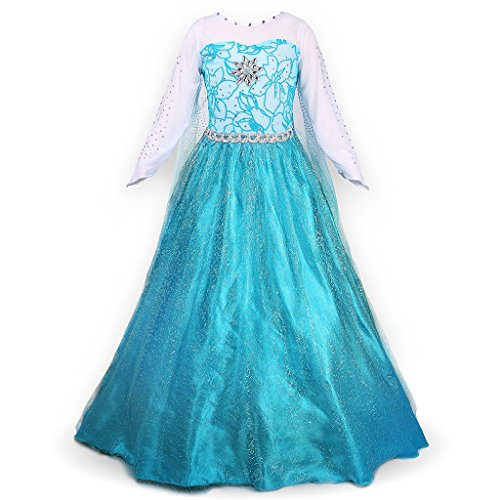 ostüm Schneeflocke Glänzende Prinzessin Kleid Halloween Karneval (Glänzende Mädchen Halloween-kostüm)