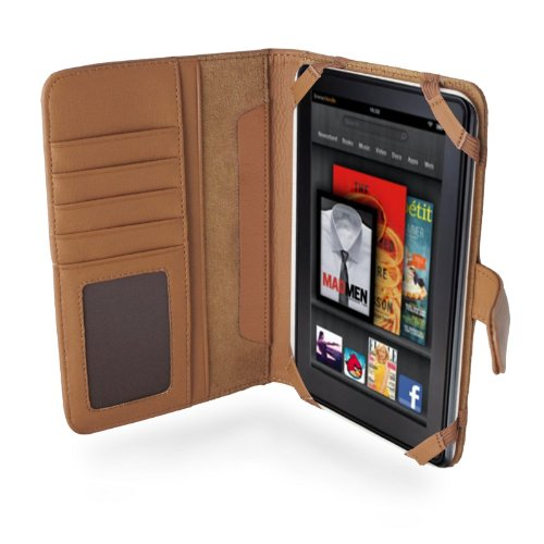 e 7 Zoll Napa Leder Flip Buch Stil Trage Tasche / cover Für Das Neue Amazon Kindle Fire 7 Zoll 4G 4th (Kindle Fire 7 4g)