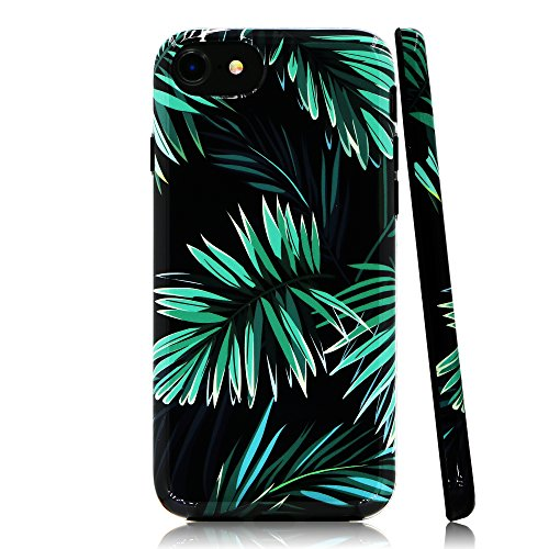 lartin Weicher Flexibler Jellybean Gel TPU Fall für iPhone 8/iPhone 7/iPhone/6S/iPhone 6, Tropical Jungle Plants (I Phone 6 Fällen Cheetah)