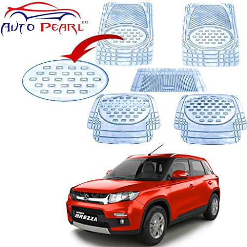 autopearl - premium quality heavy duty transparent 5pc pvc rubber 6604 clear car mat for - maruti suzuki vitara brezza Autopearl – Premium Quality Heavy Duty Transparent 5Pc Pvc Rubber 6604 Clear Car Mat For – Maruti Suzuki Vitara Brezza 51O0Up96C6L