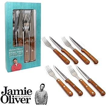 jamie oliver steak besteck set 4 tlg steakmesser steakgabel steakbesteck messer gabel. Black Bedroom Furniture Sets. Home Design Ideas