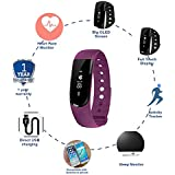 Cardio Max JSB HF120HR Fitness Band Watch With Heart Rate Monitor (Purple)