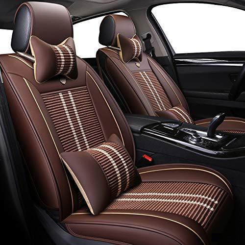 Xljh EIS Seide Autositzbezüge für Dodge alle Modelle eingestellt Avenger Ladegerät RAM Dart Auto Styling Auto Zubehör Auto Kissen,Brown -