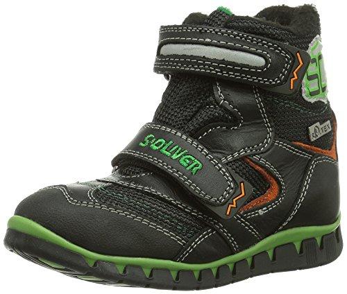 s.Oliver 35400 Mädchen Hohe Sneakers Schwarz (BLACK 1) oJq3aH