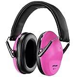 Mpow Kids Ear Defenders, NRR 25dB/SNR 29dB Kinder Gehörschutz Ohrenschützer, gehörschutzes für Konzert oder Feuerwerk, Verstellbare Kopfbügel Gehörschutz für Kinder, Rosa