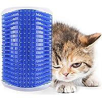 ADESUGATA Cepillo Para Mascotas,Peine Gatos,Cepillo de Eliminación de Pelo Para Mascotas,Gatos Para Mascotas Eliminación de Pelo Masaje Gatito Esquina Peine Cepillo (Azul)