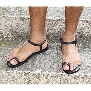 Dream – Herren Barfuß Sandalen/handgemachte Zehenring Ledersandalen/griechische Herren Sandalen