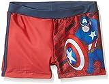 Avengers Boxer Capitan America, Bañador para Niños, Rojo, T06 años