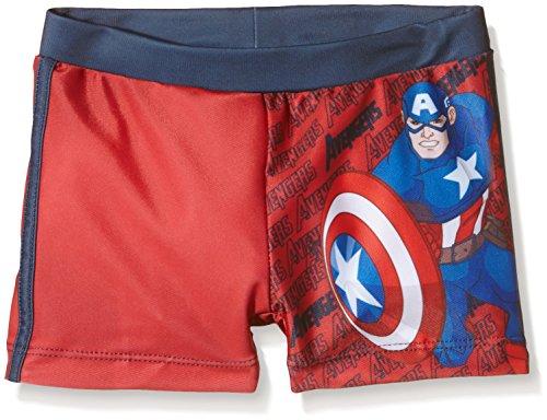 AVENGERS Bañador Boxer Capitan America, Costume da Bagno Bambini e Ragazzi, Rosso, T06 anni