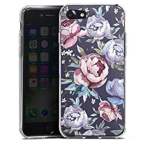 Apple iPhone X Silikon Hülle Case Schutzhülle Blumen Rosen Geschenk Silikon Case transparent
