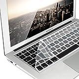 kwmobile Tastaturschutz für Apple MacBook Air 13''/ Pro Retina 13''/ 15'' (bis Mitte 2016) - QWERTZ Silikon Laptop Abdeckung Schwarz Grau